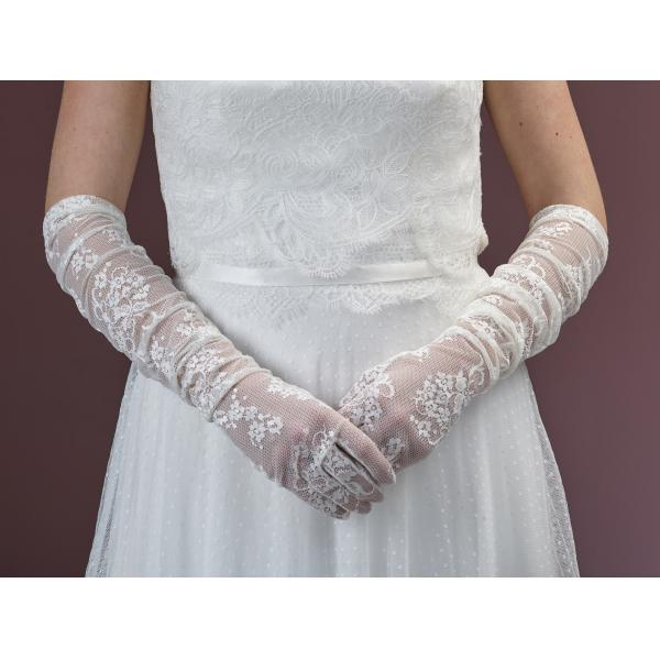Poirier Fionne Long Lace Glove