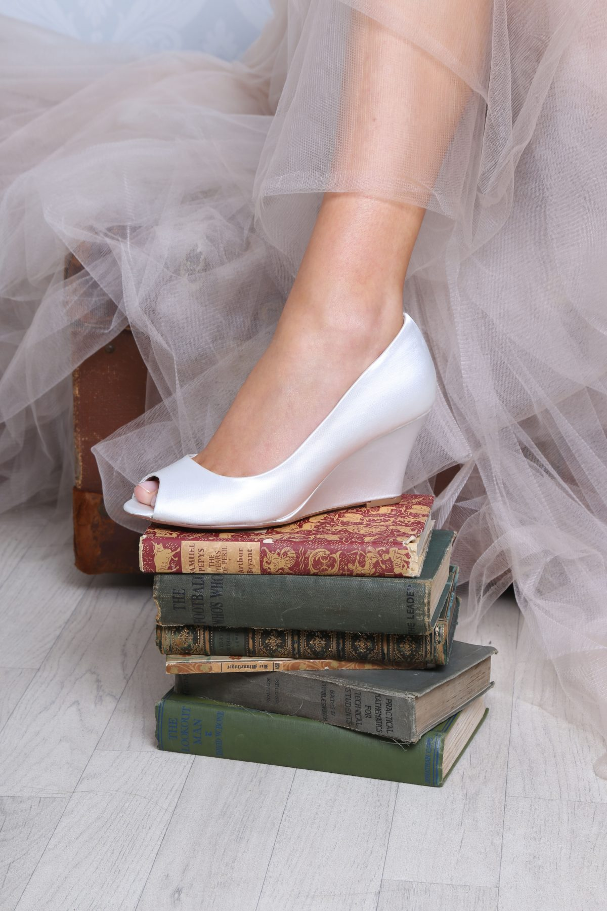 Perfect Bridal Flora Shoes - Ivory satin