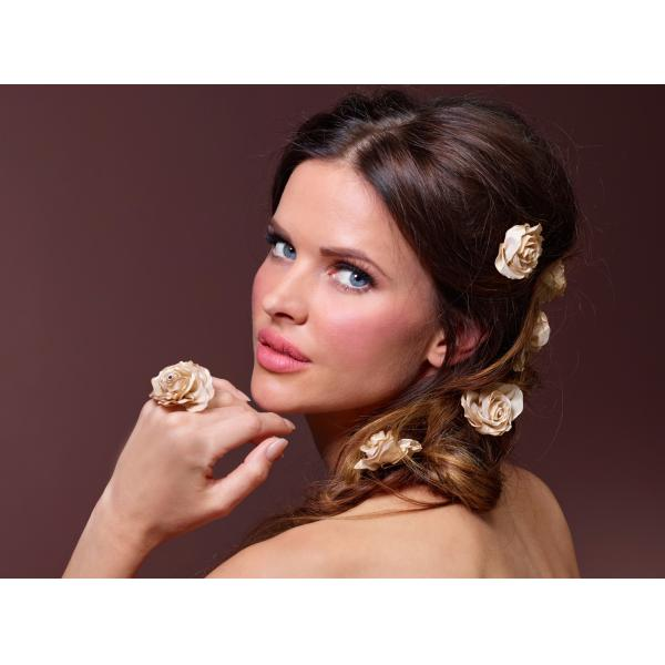 Poirier Flower Hairpin - Gold