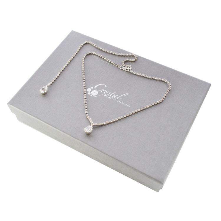 Grace Swarovski Crystal Back Drop Necklace
