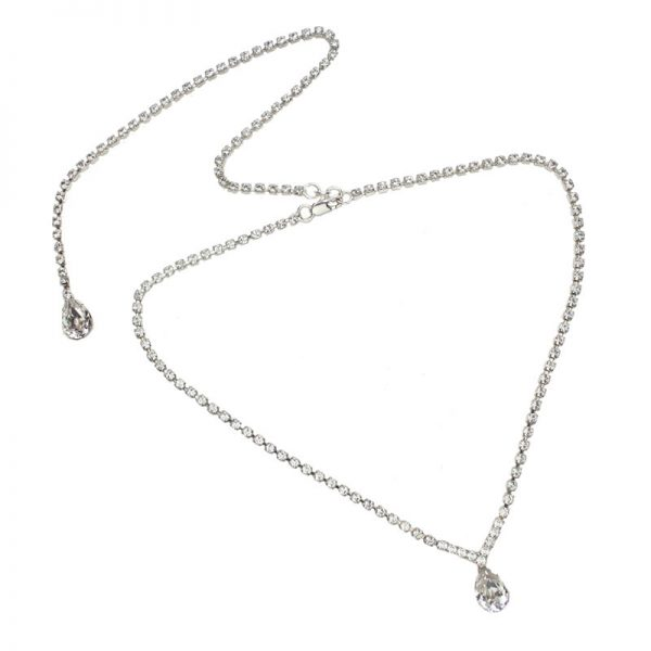 Grace Swarovski Crystal Back Drop Necklace