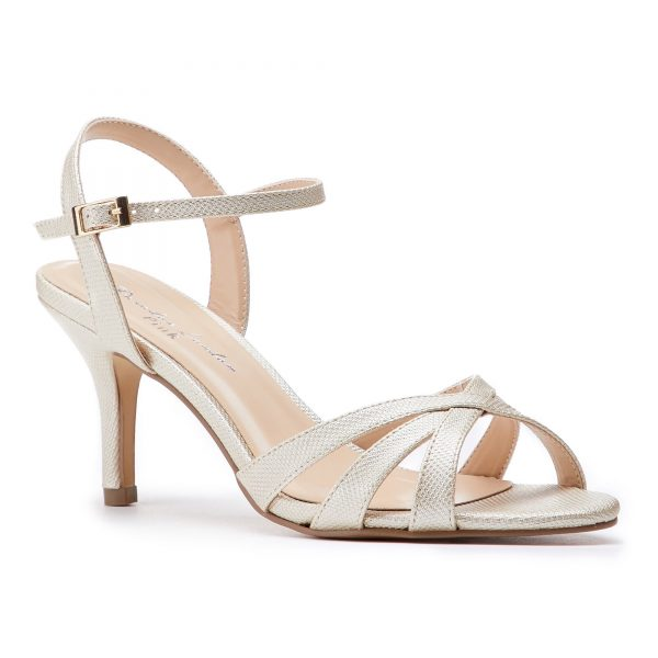 Pink Paradox Hero - Champagne Low Heel Strappy Sandal