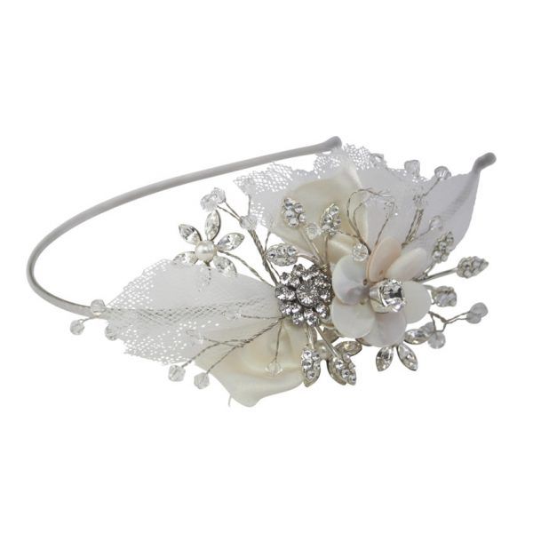Halo and Co Matilda Tulle Bridal Headband