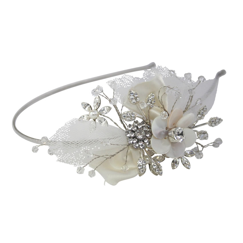 Halo and Co Matilda Tulle Bridal Headband