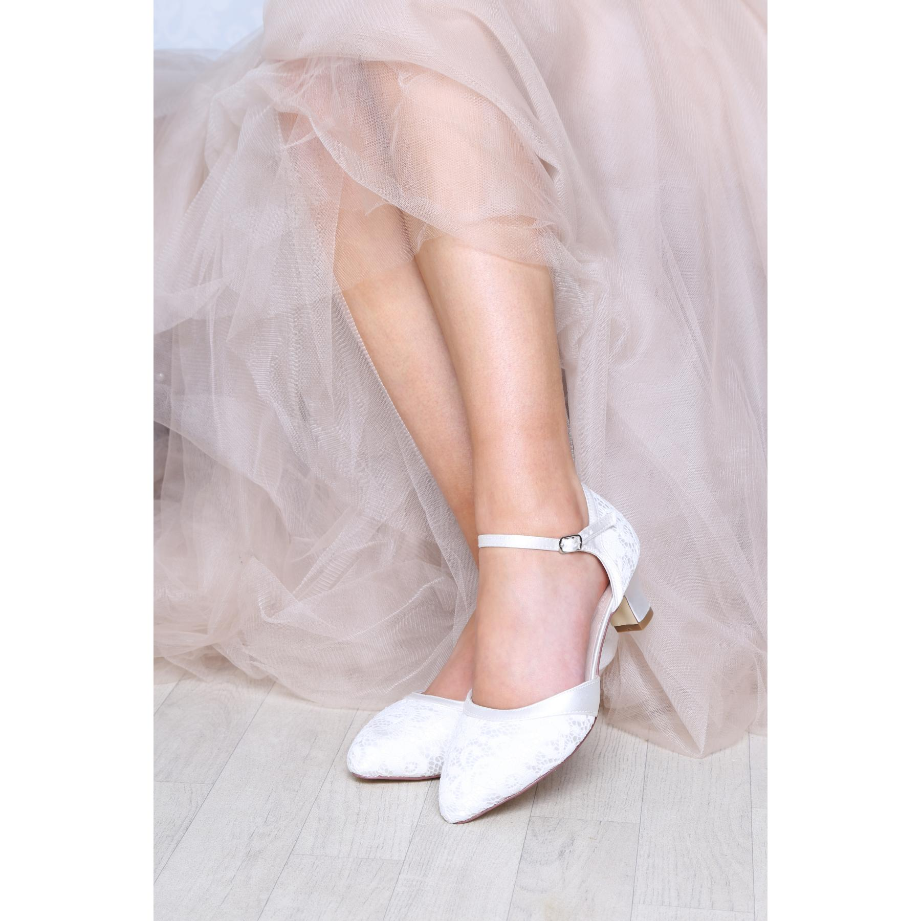 Perfect Bridal Ingrid Shoes - Ivory Lace
