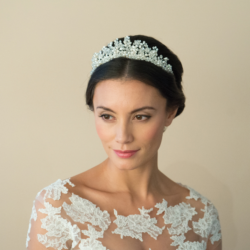 Ivory and Co Anika Freshwater Pearl Tiara