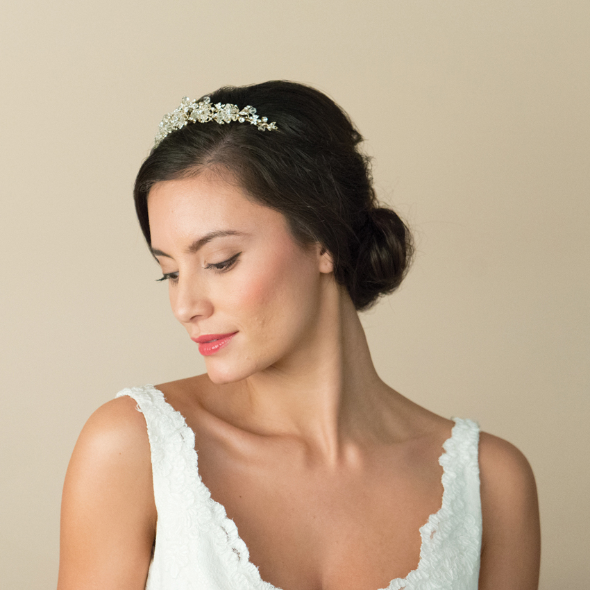 Ivory and Co Cassidy Gold Tiara