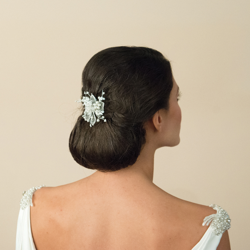 Ivory and Co Magnolia Hair Flower