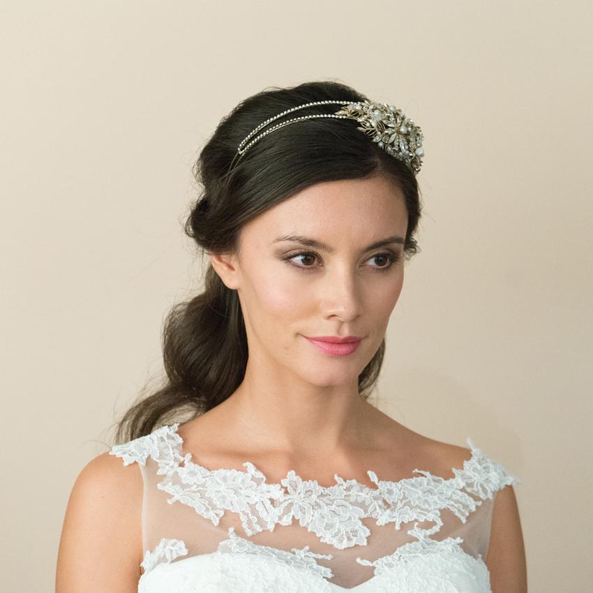 Ivory and Co Savannah Gold Headband