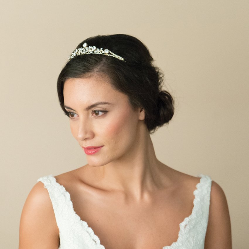 Ivory and Co Scarlett Gold Tiara