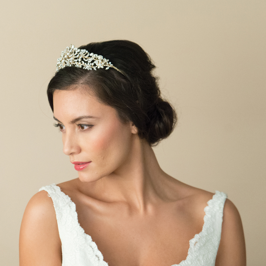 Ivory and Co Shelby Gold Tiara
