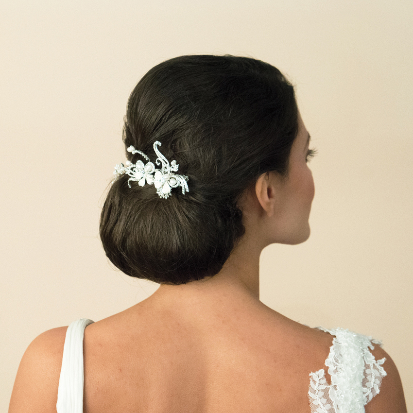 Ivory and Co Silver Scroll Pearl Bridal Comb