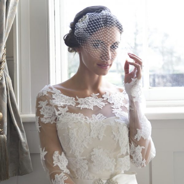 Ivory and Co Pearl Birdcage Veil