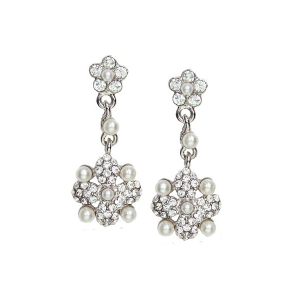 Juliet Swarovski Crystal and Pearl Earrings
