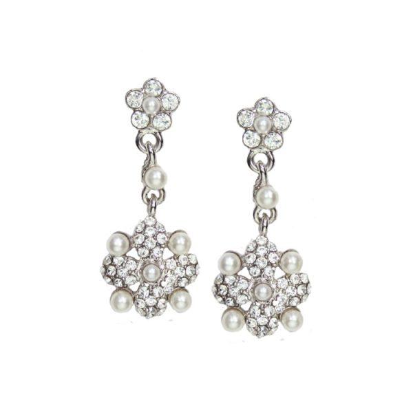 b2c27c0db00f3 Juliet Swarovski Crystal and Pearl Earrings