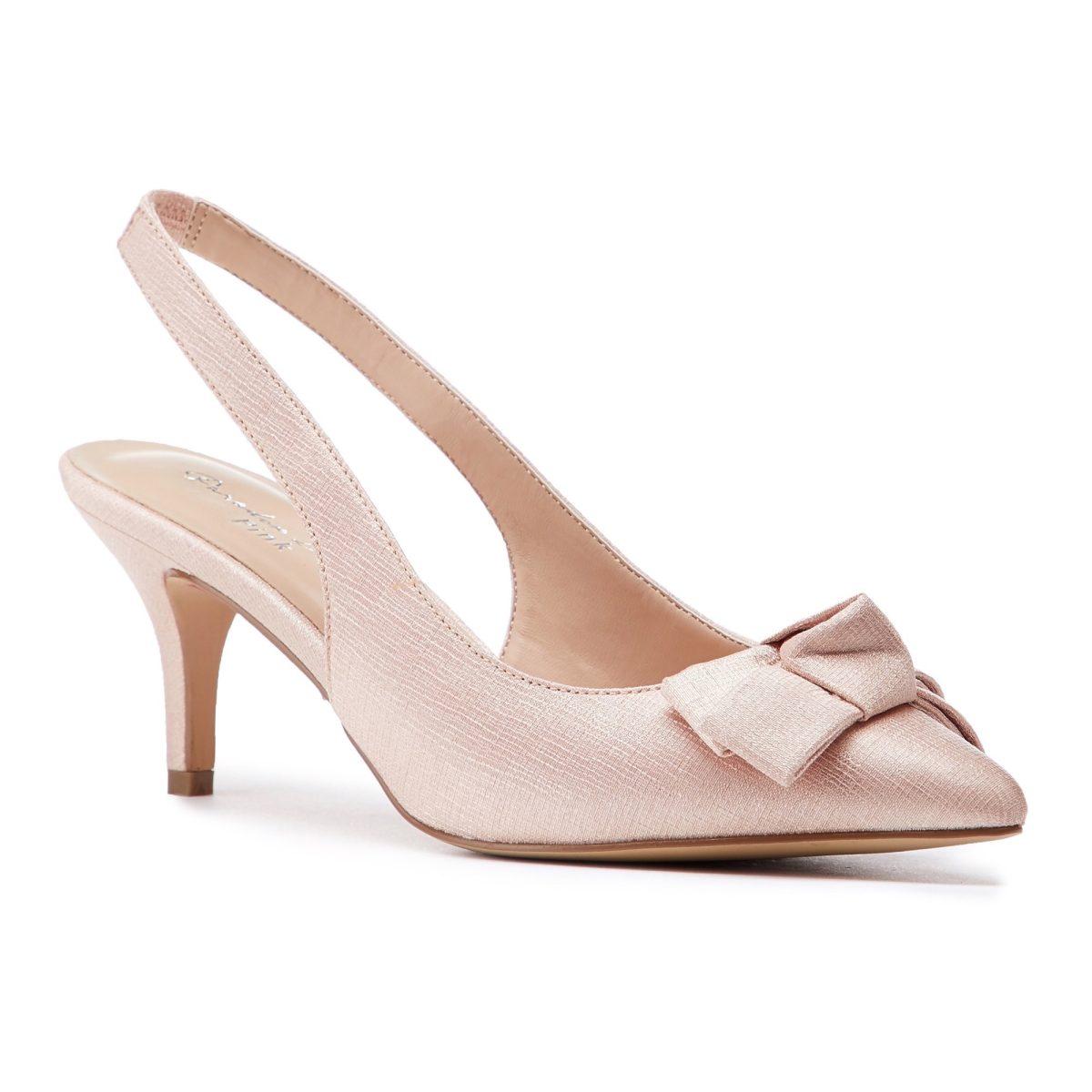Pink Paradox Kaila - Blush Shimmer Satin Bridal Shoes