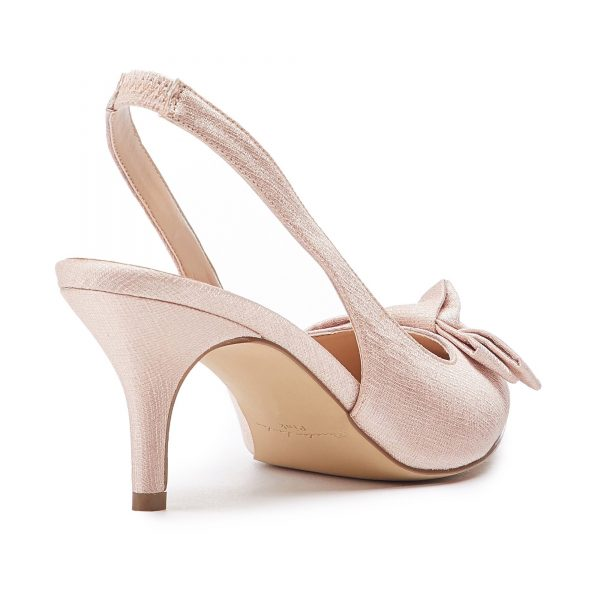 Pink Paradox Kaila - Blush Shimmer Satin Bridal Shoes