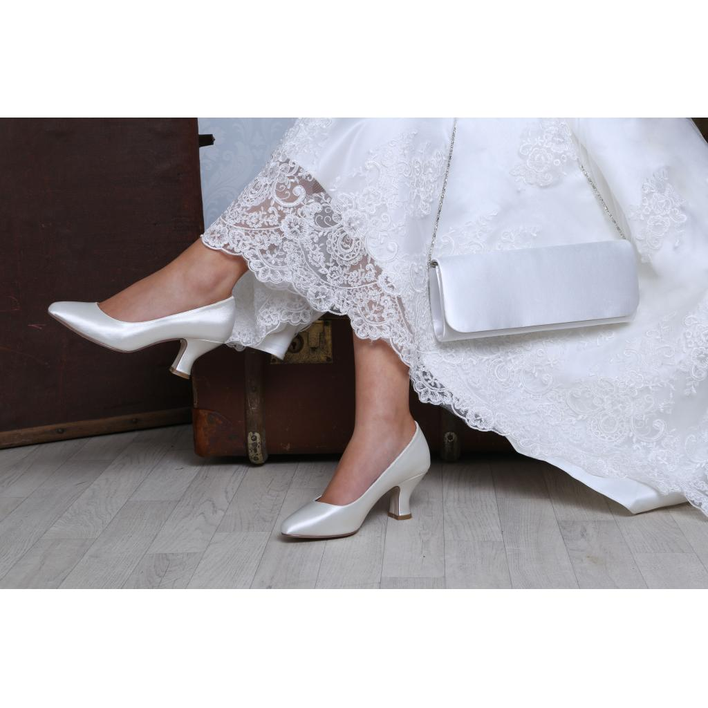 a882b45f5c9 Perfect Bridal Mable Shoes - Satin - Wide fit - Crystal Bridal Accessories