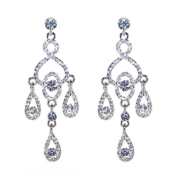 Malbec Chandelier Crystal Earrings