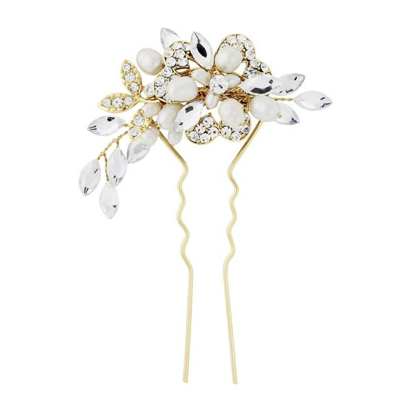 Marcia Luxe Wedding Hair Pin - Gold
