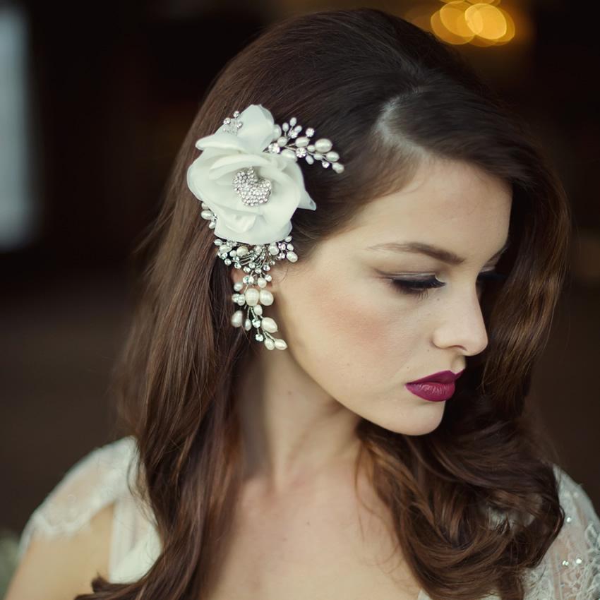 Sass B Miriam Crystal Flower Headpiece