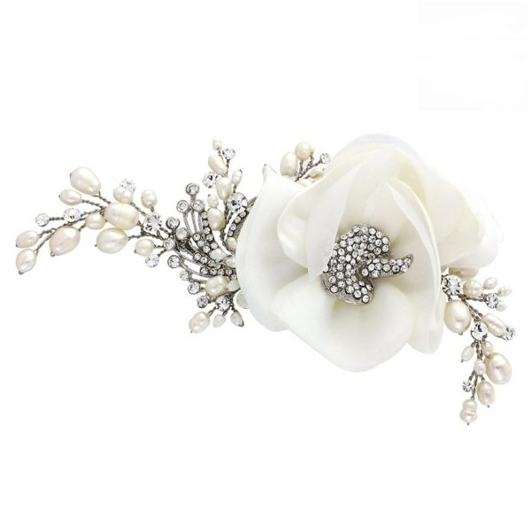 Sass B Miriam Crystal Flower Headpiece