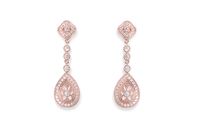 Ivory and Co Moonstruck Rose Earrings