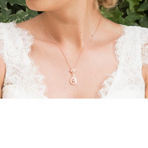 Ivory and Co Moonstruck Rose Pendant