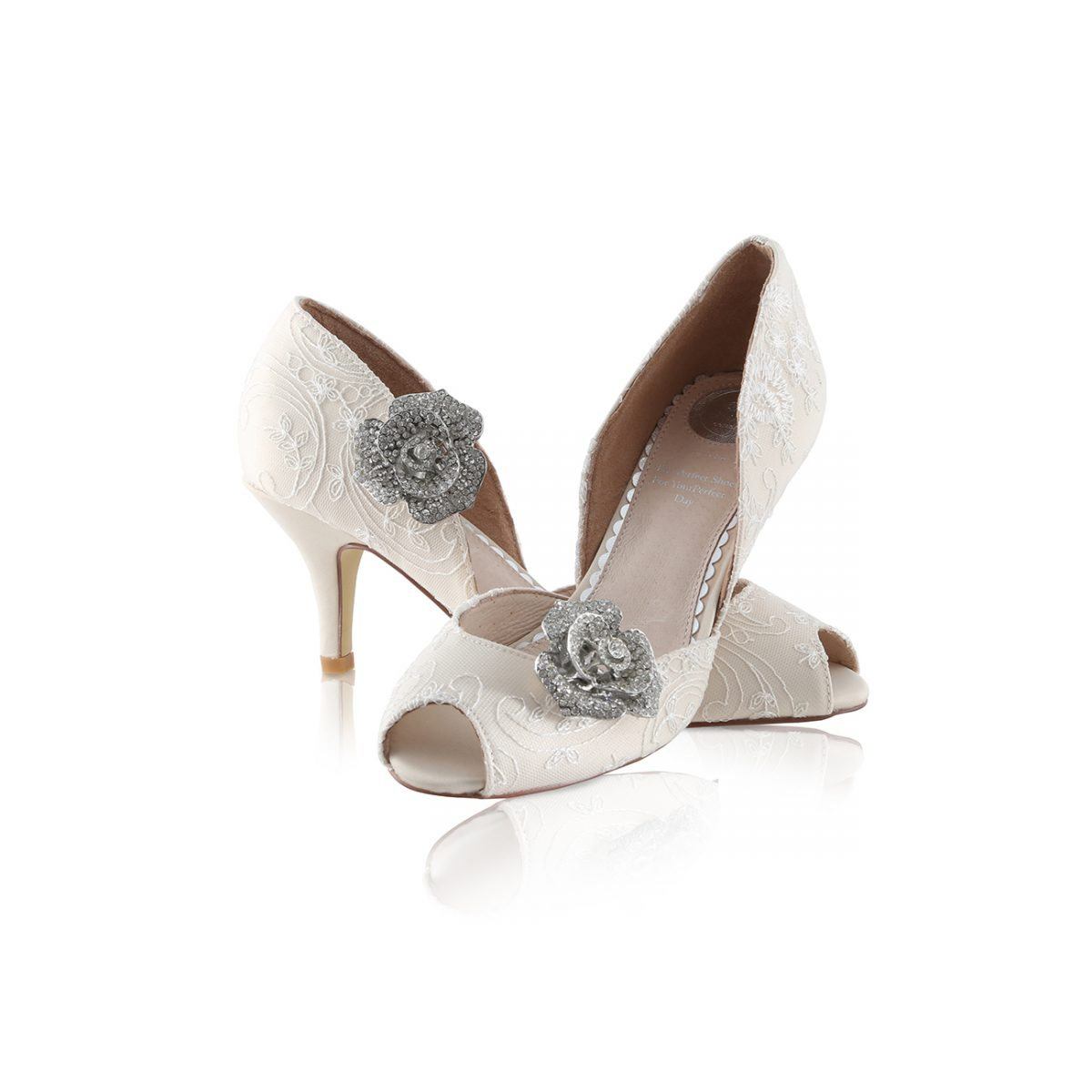 Perfect Bridal Peach Shoe Trim