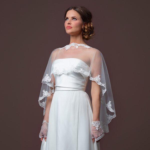 Poirier Pearlette Bridal Cape