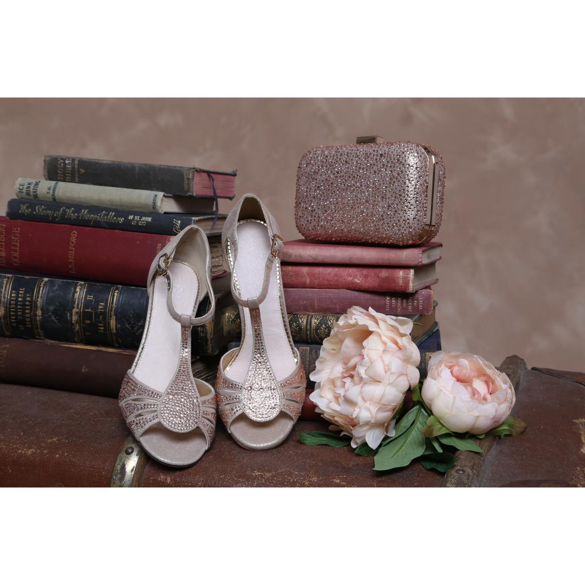 Perfect Bridal Perla Shoes - Gold Shimmer