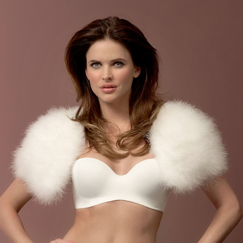 Poirier Chic Marabou Feather Bridal Cape