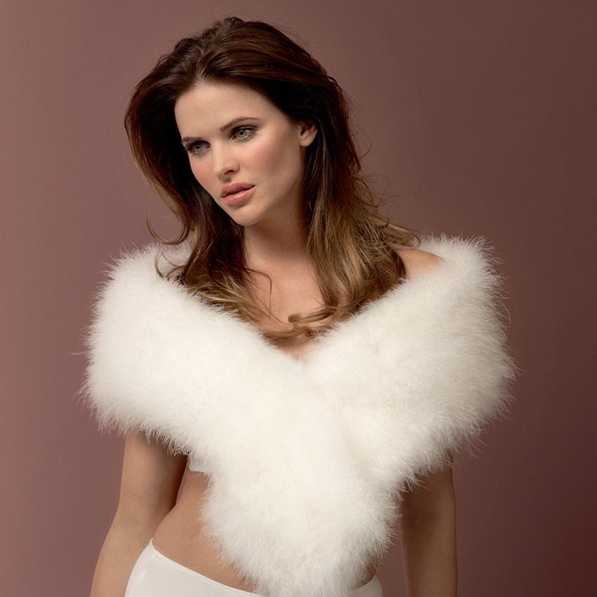 Poirier Elegance Marabou Feather Bridal Stole