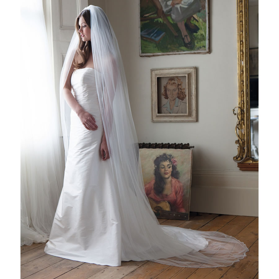 Rainbow Club Flame Wedding Veil