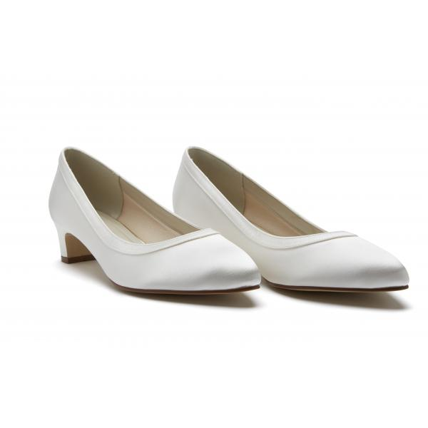 Rainbow Club Gisele Shoes Ivory Satin