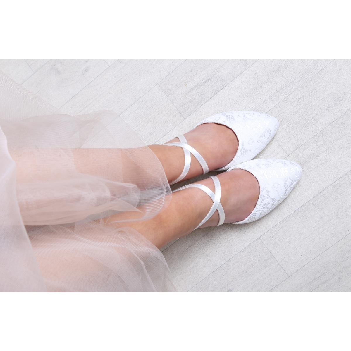 Perfect Bridal Renate Shoes - Ivory Lace