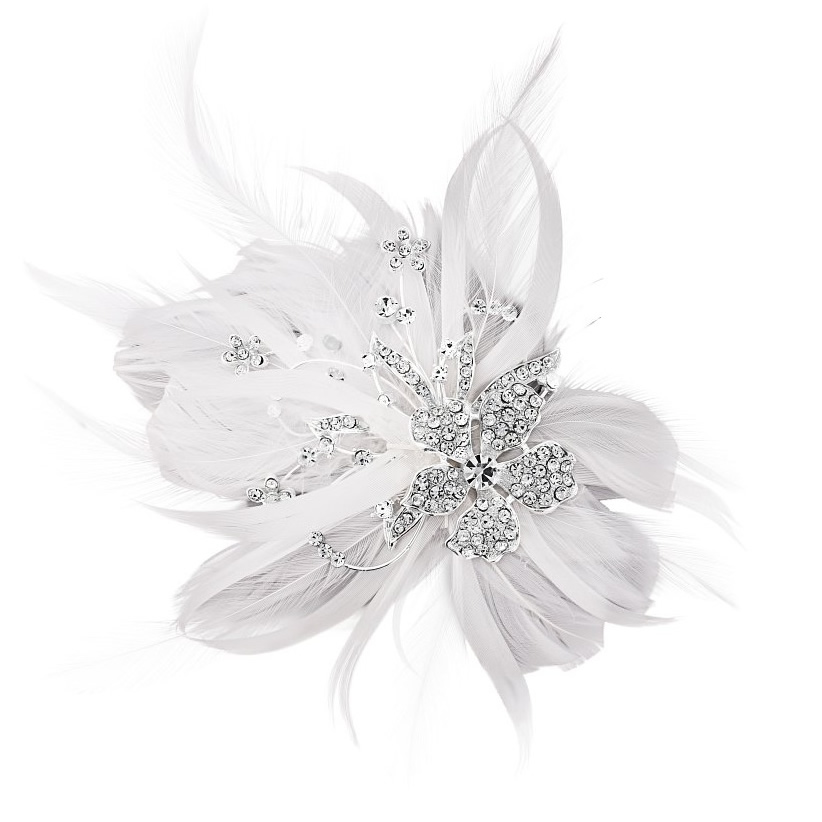 Seraphina Feather Bridal Clip