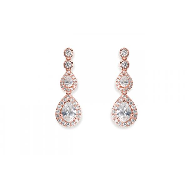 Ivory and Co Sorbonne Rose Earrings