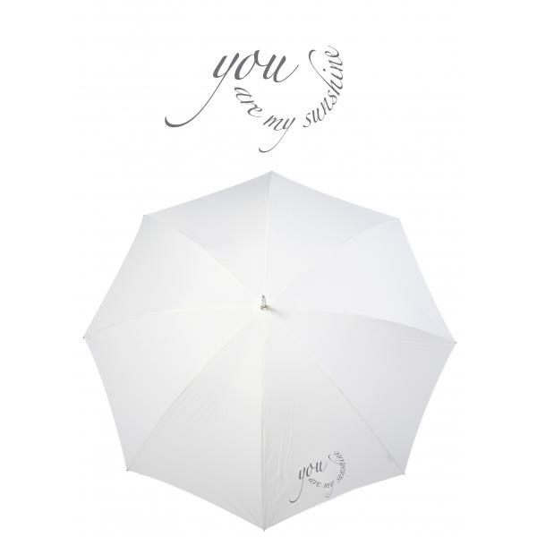 Poirier Round Wedding Umbrella - 'You are my sunshine'