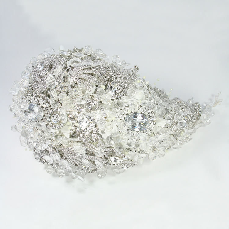 Vintage Glamour Crystal Brooch Bouquet