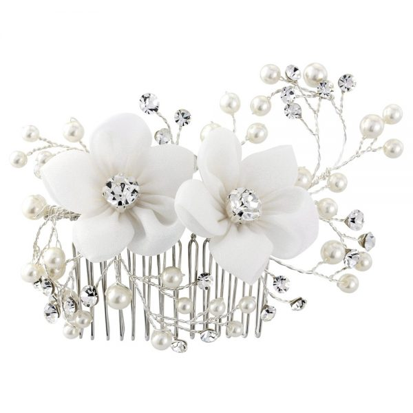 Vivian Fabric Wedding Comb