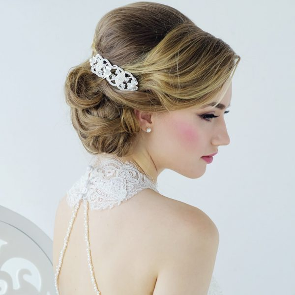 Willow Vintage Pearl Wedding Comb