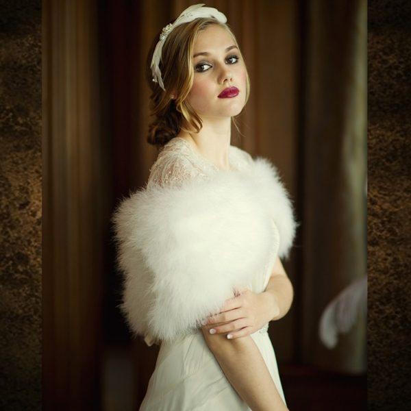 Bridal Marabou Shrug