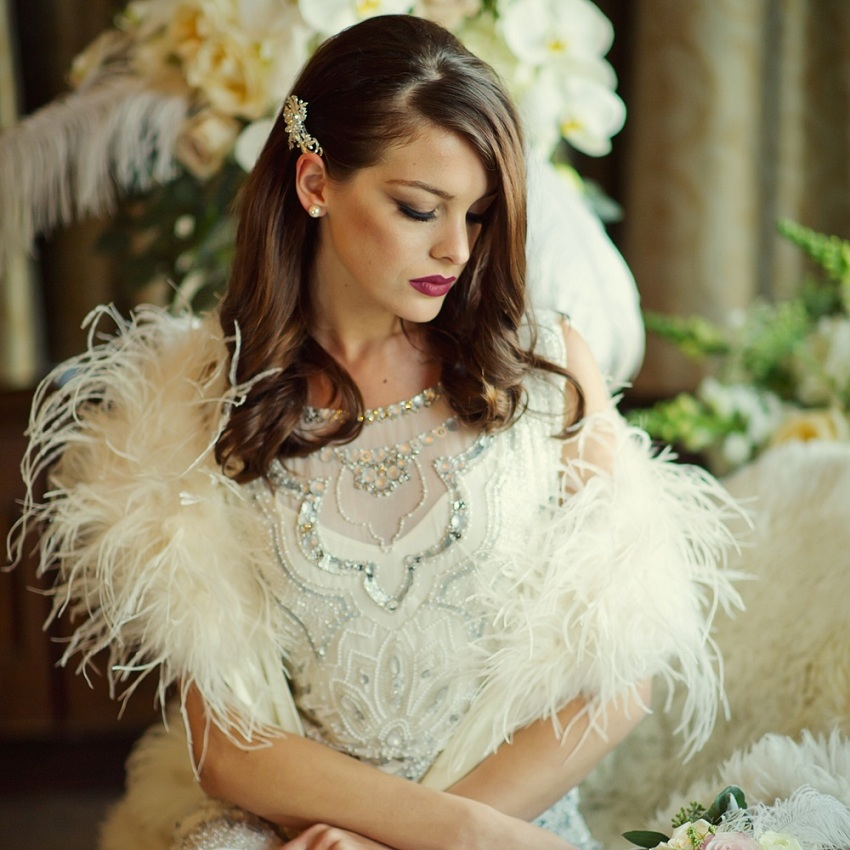 Bridal Ostrich Feather Shrug