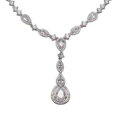 David Tutera Claire Drop Necklace