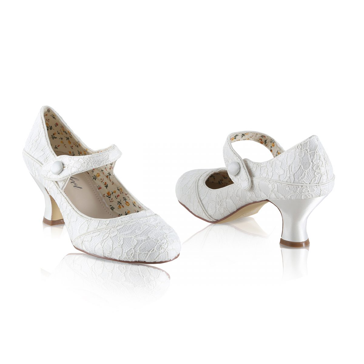 Perfect Bridal Esta Shoes - Ivory Lace - wide fitting
