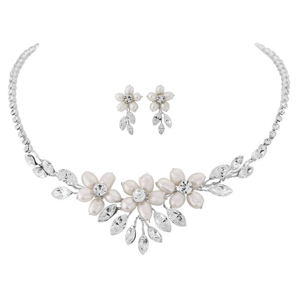 Eternally Pearl and Crystal Necklace Set