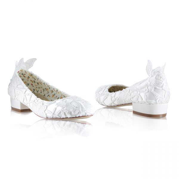 Perfect Bridal Fern Shoes - Ivory Lace