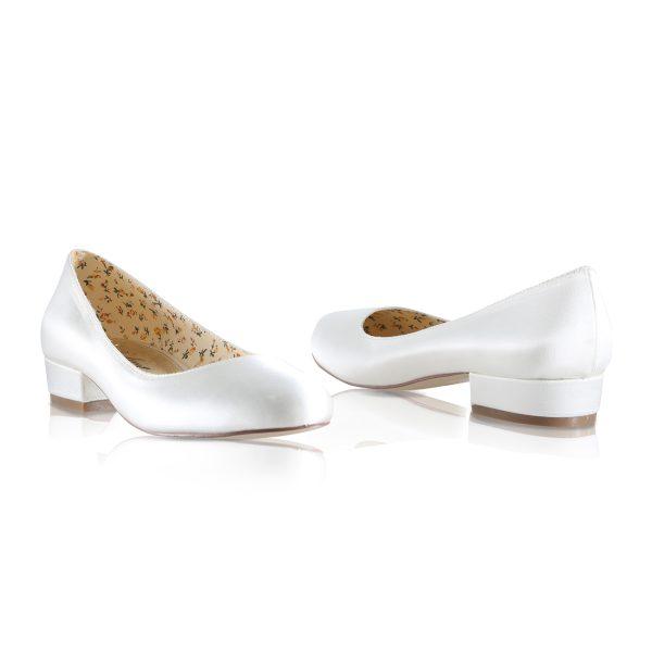 Perfect Bridal Fern Shoes - Ivory Satin