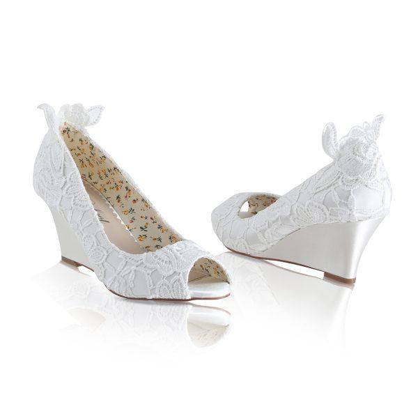 Perfect Bridal Flora Shoes - Ivory Lace
